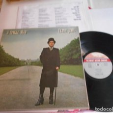 Discos de vinilo: ELTON JOHN-LP A SINGLE MAN-LETRAS. Lote 150562642