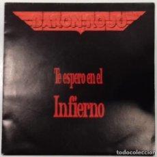 Discos de vinilo: BARÓN ROJO - TE ESPERO EN EL INFIERNO- SINGLE- ED. ESPAÑOLA- 1992. Lote 150564390
