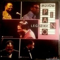 Discos de vinilo: GREAT PIANO LEGENDS. LP RARO QUE REUNE GRANDES PIANISTAS DE JAZZ. JAZZ LIFE, GERMANY,. Lote 150568266