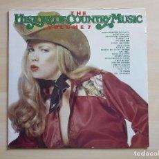 Discos de vinilo: THE HISTORY OF COUNTRY MUSIC - VOLUME 7 - LP - VINILO - RADIANT - 1981 - LEE CASH. Lote 150577562