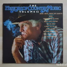 Discos de vinilo: THE HISTORY OF COUNTRY MUSIC - VOLUME 12 - LP - VINILO - RADIANT - 1981 - LEE CASH. Lote 150577678