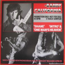 Discos de vinilo: RANDY CALIFORNIA (SPIRIT): SHANE / INTRO / ONE MAN´S HEAVEN. Lote 150584038