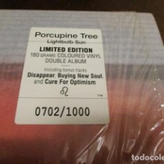 Discos de vinilo: PORCUPINE TREE - 2 LP - VINILO COLOR - LIGHTBULB SUN - NUMERADO A 1000 COPIAS - STEVEN WILSON. Lote 150600010