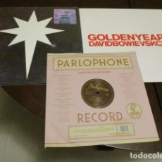 Discos de vinilo: DAVID BOWIE - 3 MAXI SINGLES - GOLDEN YEARS - NO PLAN - SUE - NUEVOS - LAZARUS. Lote 150600106