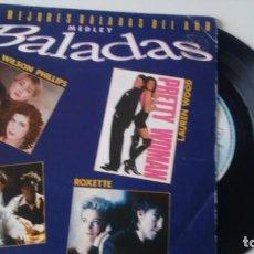 Discos de vinilo: E P ( VINILO) -PROMOCION- LAS MEJORES BALADAS DEL AÑO AÑOS 90. Lote 150604718