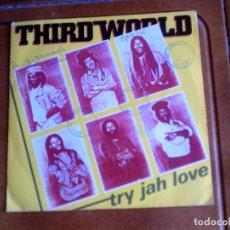 Discos de vinilo: DISCO DEL GRUPO THID WORLD , TRY JAH LOVE. Lote 150609222