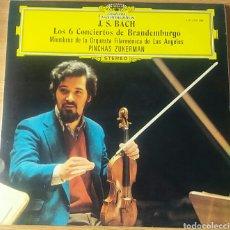 Discos de vinilo: J. S. BACH. LOS 6 CONCIERTOS DE BRANDEMBURGO. PINCHAS ZUKERMAN. MIEMBROS FILARMÓNICA LOS ÁNGELES.. Lote 150615336