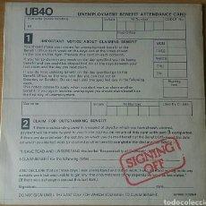 Discos de vinilo: UB40. SIGNING OFF. LP, 1980 SPAIN.. Lote 150616156