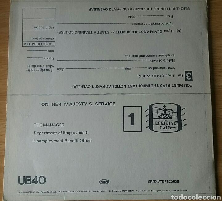 Discos de vinilo: UB40. Signing Off. Lp, 1980 Spain. - Foto 2 - 150616156