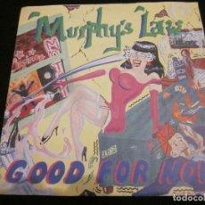 Discos de vinilo: MURPHY'S LAW - GOOD FOR NOW - EP 4 TEMAS - EDICION ALEMANA.. Lote 150618662