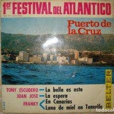 Discos de vinilo: PRIMER FESTIVAL DEL ATLANTICO PUERTO LA CRUZ. Lote 150619738