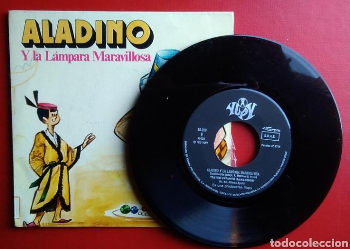 Discos de vinilo: Disco ep aladino y la lámpara maravillosa año 1972 teatro infantil samaniego - Foto 3 - 150621408