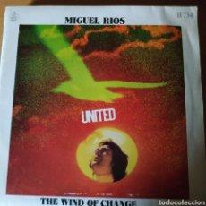 Discos de vinilo: MIGUEL RIOS. UNITED. Lote 150621942