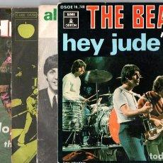Discos de vinilo: LOTE 6 SINGLES THE BEATLES,AÑOS 60,EMI ODEON,MARCONI,CORRECTO ESTADO,VER TODAS SUS FOTOGRAFIAS,POP. Lote 150632702