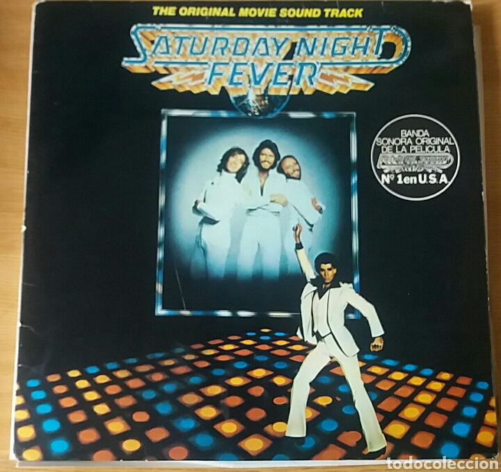 SATURDAY NIGHT FEVER. B.S.O. RSO, SPAIN 1977. (Música - Discos - LP Vinilo - Bandas Sonoras y Música de Actores )