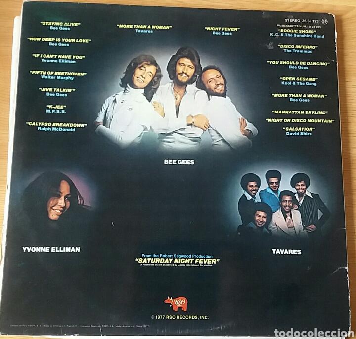 Discos de vinilo: Saturday Night Fever. B.S.O. RSO, Spain 1977. - Foto 2 - 150635134