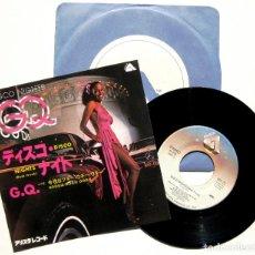 Discos de vinilo: GQ - DISCO NIGHTS (ROCK FREEK) - SINGLE ARISTA 1979 JAPAN (EDICIÓN JAPONESA) BPY. Lote 150638942