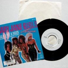 Discos de vinilo: MARY JANE GIRLS - WALK LIKE A MAN - SINGLE MOTOWN 1986 PROMO JAPAN (EDICIÓN JAPONESA) BPY. Lote 150640546