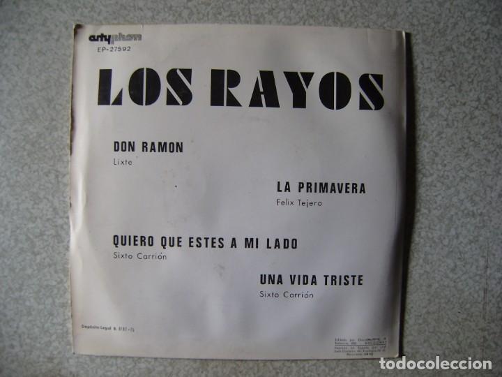 Discos de vinilo: LOS RAYOS.DON RAMON + 3..HUESCA (ARAGON)...MUY RARO...EX - Foto 2 - 150640874