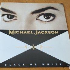 Discos de vinilo: MAXI SINGLE UK BLACK OR WHITE MICHAEL JACKSON. Lote 150646960