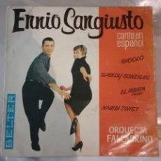 Discos de vinilo: ENNIO SANGIUSTO - GIGOLO + 3. Lote 150649710