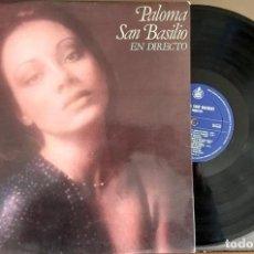 Discos de vinilo: LP PALOMA SAN BASILIO - EN DIRECTO - HISPAVOX 1978. Lote 150653078
