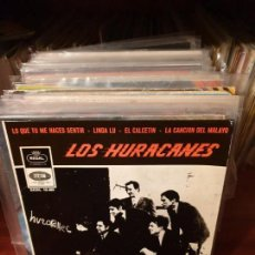 Discos de vinilo: LOS HURACANES /LO QUE TU ME HACES SENTIR / REGAL 1965 . Lote 150686126