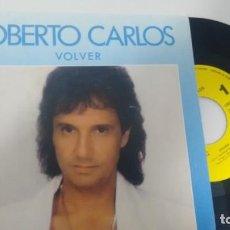 Discos de vinilo: SINGLE (VINILO)-PROMOCION- DE ROBERTO CARLOS AÑOS 80. Lote 150710330