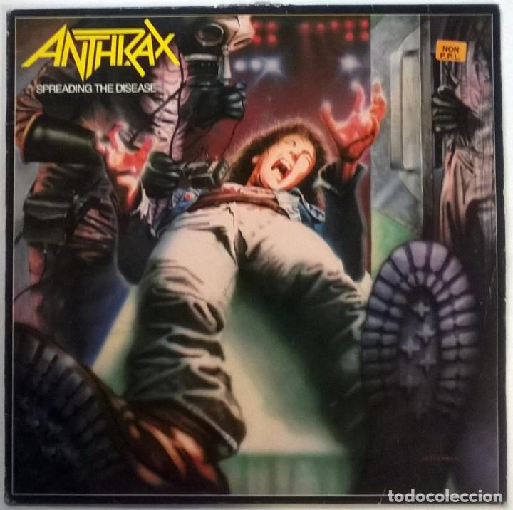 ANTHRAX. SPREADING THE DISEASE. ISLAND - MUSIC FOR NATIONS. FRANCE 1985 LP + ENCARTE (Música - Discos - LP Vinilo - Heavy - Metal)