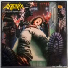 Discos de vinilo: ANTHRAX. SPREADING THE DISEASE. ISLAND - MUSIC FOR NATIONS. FRANCE 1985 LP + ENCARTE. Lote 150733514