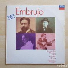 Discos de vinilo: EMBRUJO - GRANADOS, TÁRREGA, FALLA, ALBÉNIZ... - LP - DOBLE VINILO - DECCA - 1988. Lote 150749574