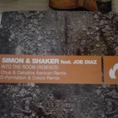 Discos de vinilo: SIMON & SHAKER FEAT JOE DIAZ INTO THE ROOM REMIXES. Lote 150777654