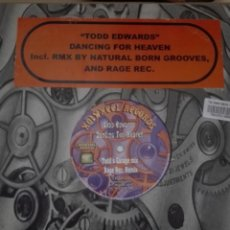 Discos de vinilo: TODD EDWARDS DANCING FOR HEAVEN INCL. RMX BY NATIRAL BORN GROOVES AND RAGE REC. Lote 150778242