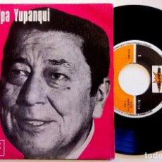 Discos de vinilo: ATAHUALPA YUPANQUI - TRABAJO QUIERO TRABAJO / GUITARRA, DÍMELO TÚ - SINGLE 1977 - MARFER. Lote 150781954