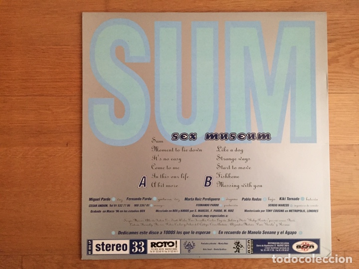Discos de vinilo: SEX MUSEUM: SUM + THE COVERS EP - Foto 2 - 150793478