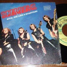 Discos de vinilo: SCORPIONS - ROCK YOU LIKE A HURRICANE, SG HARVEST 006-2000347. SPAIN, 1984. Lote 150794310