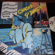 Discos de vinilo: LOS ELEGANTES.MAXI 12´´ 45 RPM. CHICAS Y DINERO. MOVIDA. ZAFIRO, AÑO 1985. Lote 235352115