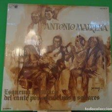Discos de vinilo: LP ANTONIO MAIRENA – ESQUEMA HISTORICO DEL CANTE POR SEGUIRIYAS Y SOLEARES 2LP. Lote 150798394