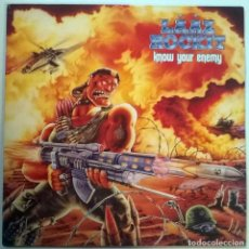 Discos de vinilo: LAAZ ROCKIT. KNOW YOUR ENEMY, MUSIC FOR NATIONS, UK 1987 LP. Lote 150808030