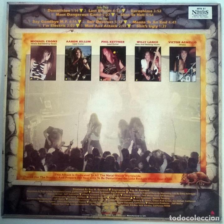 Discos de vinilo: Laaz Rockit. Know your enemy, Music for Nations, UK 1987 LP - Foto 2 - 150808030