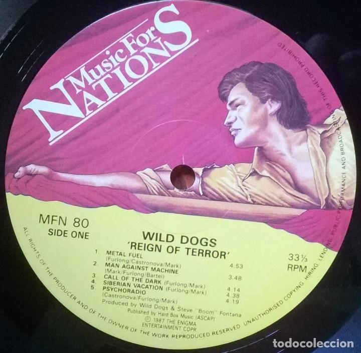 Discos de vinilo: Wild Dogs. Reign of Terror. Music for Nations, UK 1987 LP original - Foto 3 - 150809110
