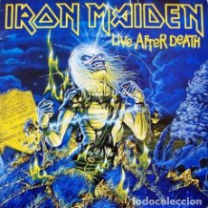 Discos de vinilo: IRON MAIDEN 2LP LIVE AFTER DEATH EDICION ORIGINAL U.K INNERS LIBRETO. Lote 150822338