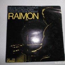 Discos de vinilo: RAIMON - INICI DE CANTIC/EN EL RECORD ENCARA/CANÇO DEL REMORDIMENT/SI EM MOR 1965. Lote 150825682