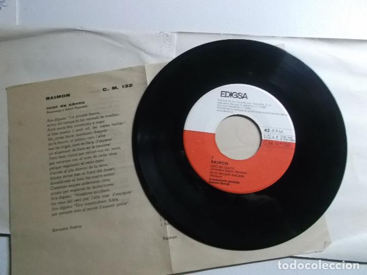 Discos de vinilo: raimon - inici de cantic/en el record encara/canço del remordiment/si em mor 1965 - Foto 3 - 150825682