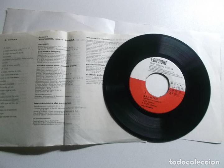 Discos de vinilo: Raimon. Al vent. La Pedra. Som. A cops. Edigsa. 1963. - Foto 3 - 150826206