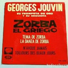 Discos de vinilo: ZORBA EL GRIEGO (EP 1965) DE LA BSO - GEORGES JOUVIN Y SU ORQUESTA. Lote 150837626
