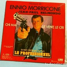 Discos de vinilo: EL PROFESIONAL (BSO EP FRANCES 1981) LE PROFESSIONNEL - ENNIO MORRICONE - JEAN PAUL BELMONDO. Lote 150840066