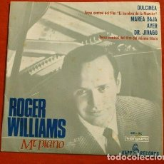 Discos de vinilo: EL HOMBRE DE LA MANCHA (BSO EP 1966) FILM DR. JIVAGO - ROGER WILLIAMS MR. PIANO - YESTERDAY. Lote 150842054