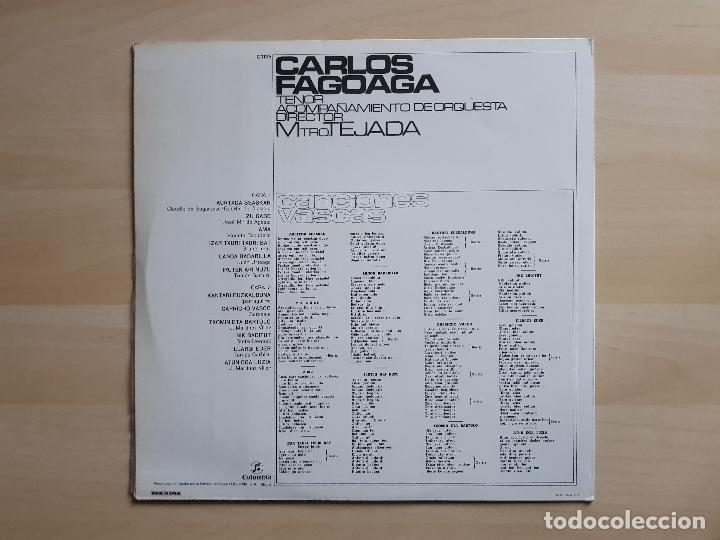Discos de vinilo: CARLOS FAGOAGA - CANCIONES VASCAS - LP - VINILO - COLUMBIA - 1971 - Foto 2 - 150842154
