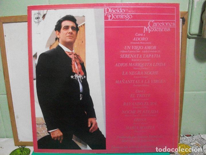 Discos de vinilo: PLACIDO DOMINGO (LP) CANCIONES MEXICANAS AÑO 1982 NUEVO¡¡ - Foto 2 - 150845538